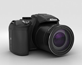 3D model of Nikon Coolpix P610 Black