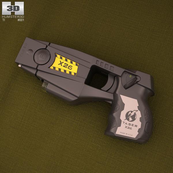 Police issue X26 Taser 3D model