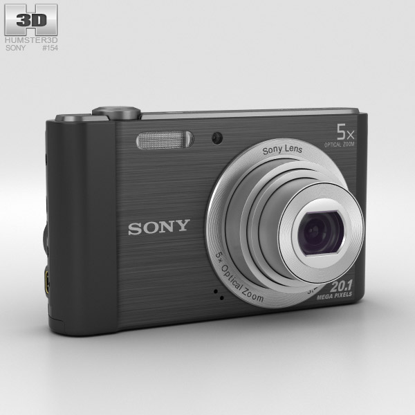 3D model of Sony Cyber-shot DSC-W800 Black