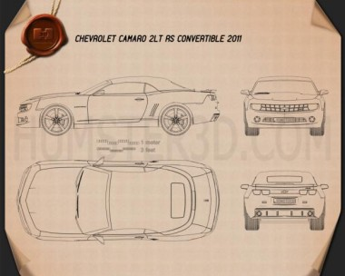 Chevrolet Camaro 2LT RS Convertible 2011 Blueprint