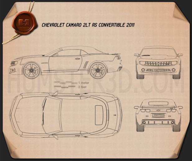 Chevrolet Camaro 2LT RS Convertible 2011 Blueprint