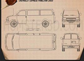 Chevrolet Express Panel Van 2003 Blueprint
