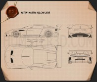Aston Martin Vulcan 2015 Blueprint