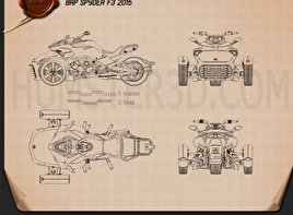 BRP Can-Am Spyder F3 2015 Blueprint