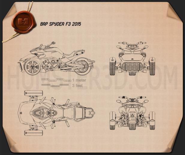 BRP Can-Am Spyder F3 2015 Blueprint