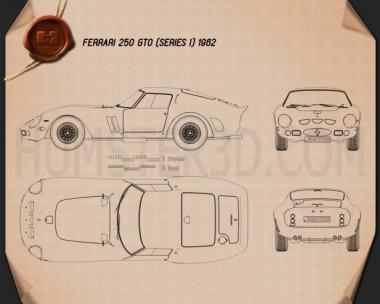 Ferrari 250 GTO (Series I) 1962 Blueprint