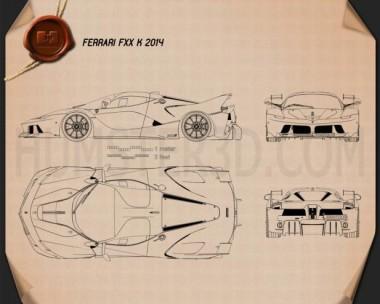Ferrari FXX-K 2015 Blueprint