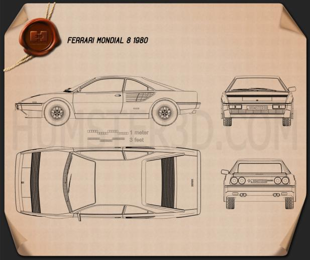 Ferrari Mondial 8 1980 Blueprint