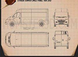 Citroen Jumper Panel Van 2012 Blueprint