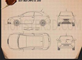Seat Ibiza SC 2013 Blueprint
