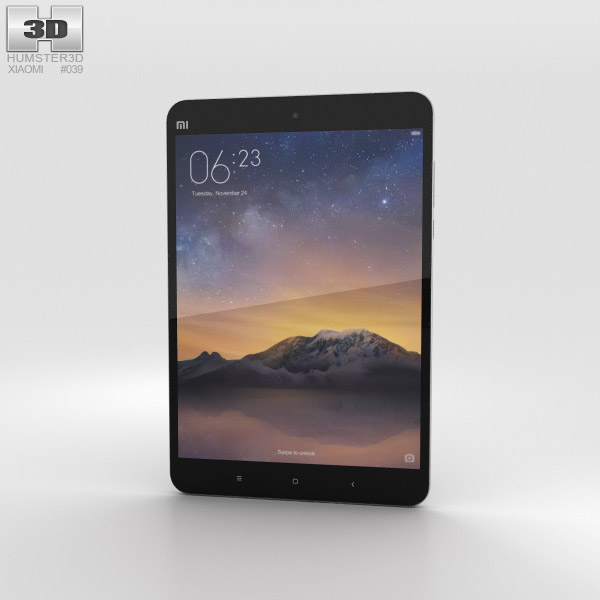 3D model of Xiaomi Mi Pad 2 Dark Grey