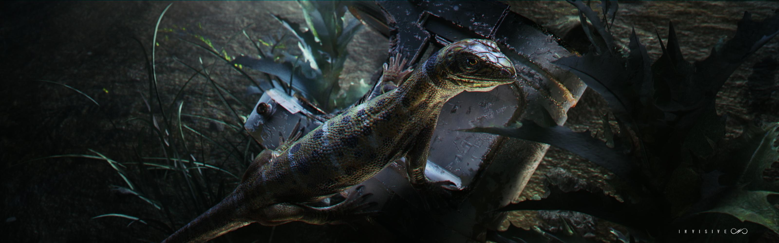 Test render of lizard