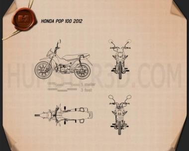 Honda POP 100 2012 Blueprint