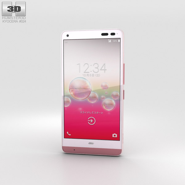 3D model of Kyocera Digno Rafre Coral Pink