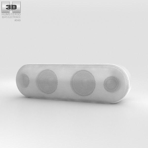 Beats Pill Plus White 3D model