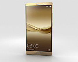 3D model of Huawei Mate 8 Champagne Gold