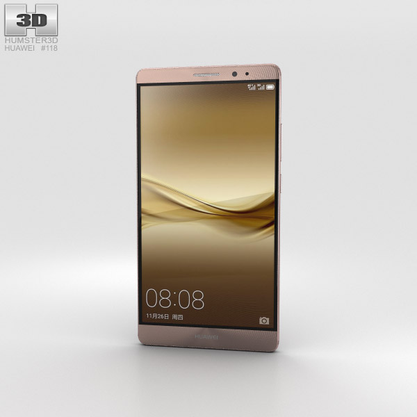 Huawei Mate 8 Mocha Brown 3D model