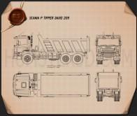 Scania P Tipper 2011 Blueprint