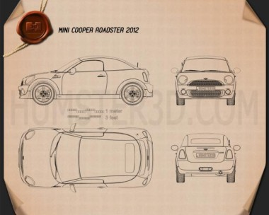 Mini Cooper roadster 2013 Blueprint