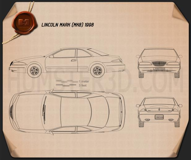 Lincoln Mark 1998 Blueprint