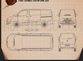 Ford Tourneo Custom SWB 2012 Blueprint