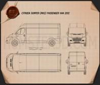 Citroen Jumper Passenger Van 2012 Blueprint