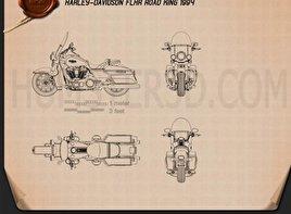 Harley-Davidson FLHR Road King 1994 Blueprint