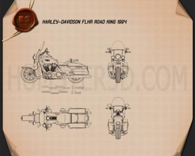 Harley-Davidson FLHR Road King 1994 Blueprint