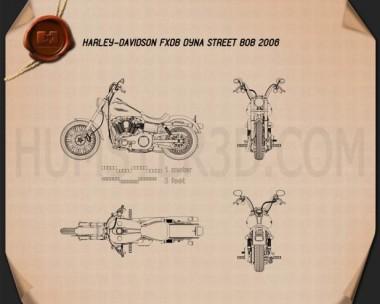 Harley-Davidson FXDB Dyna Street Bob 2006 Blueprint