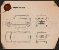 Honda N-One 2013 Blueprint