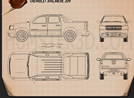 Chevrolet Avalanche 2011 Blueprint