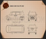 Honda N Box plus JF1 2012 Blueprint