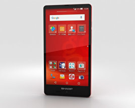 3D model of Sharp Aquos SH-M02 Red