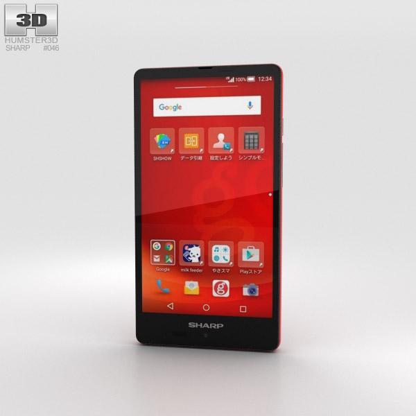 Sharp Aquos SH-M02 Red 3Dモデル