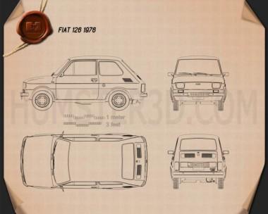Fiat 126 1976 Blueprint
