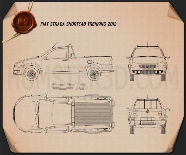 Fiat Strada Short Cab Trekking 2012 Blueprint