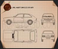 Opel Kadett City 1975 Blueprint
