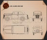 Opel Olympia (OL38) 1938 Blueprint