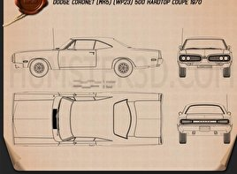 Dodge Coronet hardtop coupe 1970 Blueprint