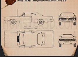 Dodge Coronet hardtop coupe 1970 Blueprint