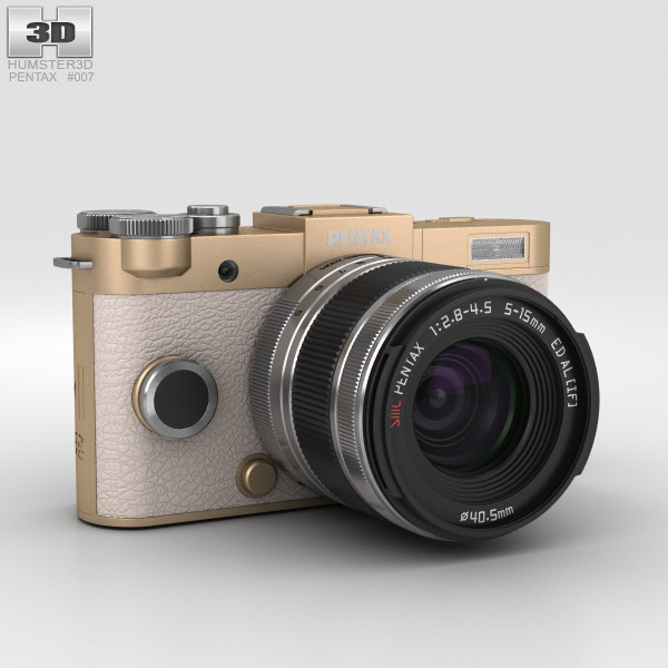 3D model of Pentax Q-S1 Champagne Gold