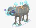 African Buffalo HD 3d model