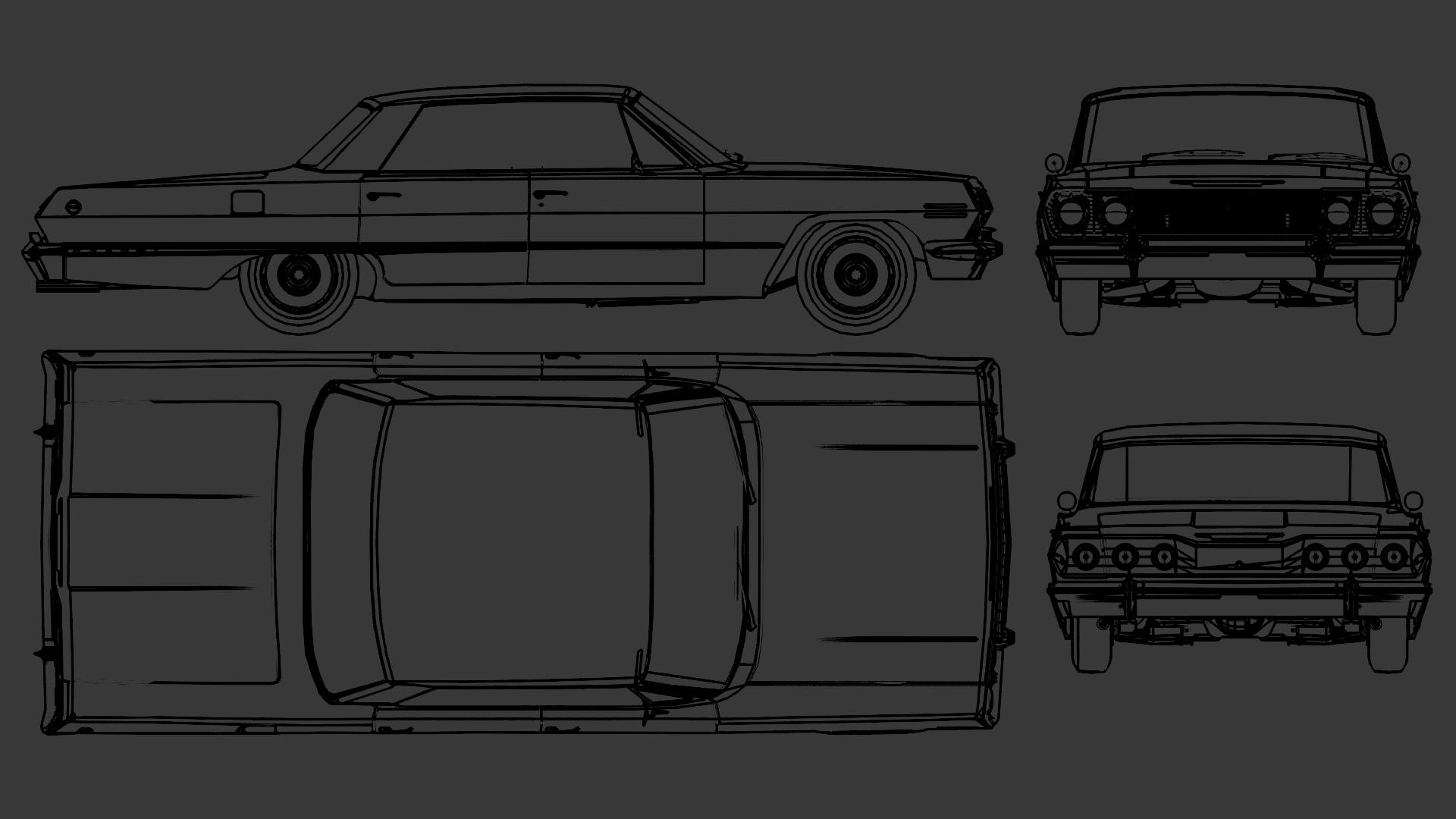 Chevrolet Impala blueprint