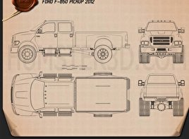 Ford F-650 pickup 2012 Blueprint