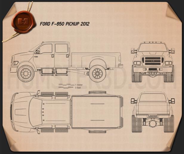 Ford F-650 pickup 2012 Blueprint