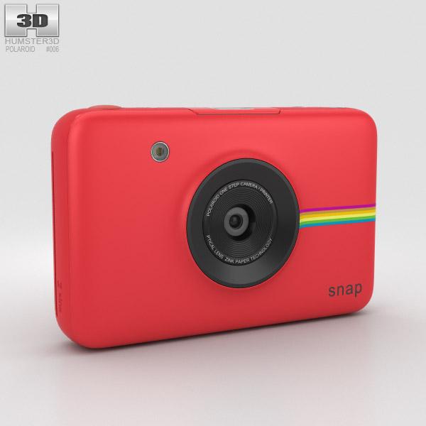 3D model of Polaroid Snap Instant Digital Camera Red