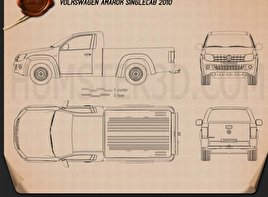 Volkswagen Amarok Single Cab 2010 Blueprint