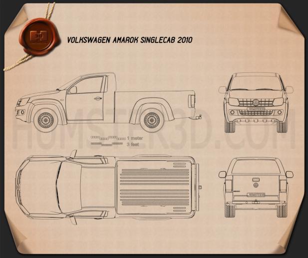 Volkswagen Amarok Single Cab 2010 Blueprint