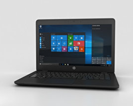 3D model of HP ZBook 14 G2 Mobile Workstation