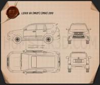 Lexus GX (J150) 2014 Blueprint